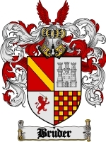 Primary image for Bruder Family Crest / Coat of Arms JPG or PDF Image Download