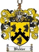 Bickler Family Crest / Coat of Arms JPG or PDF Image Download - $6.99