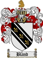 Bland Family Crest / Coat of Arms JPG or PDF Image Download - $6.99