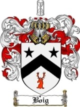 Boig Family Crest / Coat of Arms JPG or PDF Image Download - $6.99
