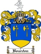 Bourdon Family Crest / Coat of Arms JPG or PDF Image Download - $6.99
