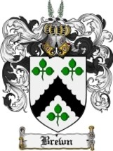 Brewn Family Crest / Coat of Arms JPG or PDF Image Download - $6.99