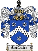 Primary image for Brewster Family Crest / Coat of Arms JPG or PDF Image Download