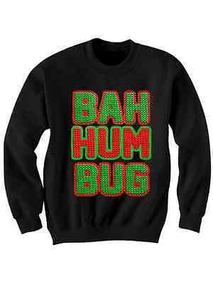 Primary image for UGLY CHRISTMAS SWEATER BAH HUM BUG SWEATSHIRT UNISEX TOPS WOMENS CHEAP GIFTS