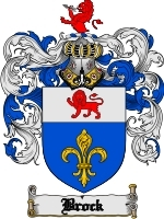 Primary image for Brock Family Crest / Coat of Arms JPG or PDF Image Download