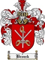 Primary image for Broeck Family Crest / Coat of Arms JPG or PDF Image Download