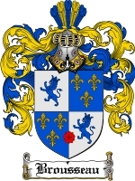 Primary image for Brousseau Family Crest / Coat of Arms JPG or PDF Image Download