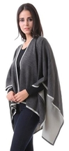 Grey Isabella  Cardigan cape wrap cloak one size fits most NEW