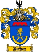 Primary image for Buffone Family Crest / Coat of Arms JPG or PDF Image Download