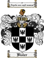 Primary image for Buler Family Crest / Coat of Arms JPG or PDF Image Download