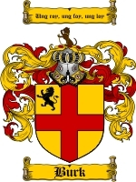Primary image for Burk Family Crest / Coat of Arms JPG or PDF Image Download