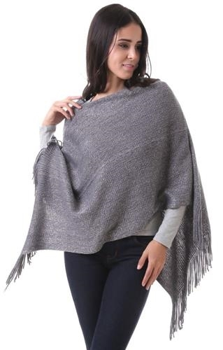 Grey Grace Cardigan cape wrap cloak one size fits most NEW