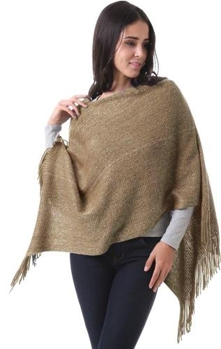 Khaki Grace Cardigan cape cloak one size fits most NEW