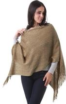 Khaki Grace Cardigan cape cloak one size fits most NEW