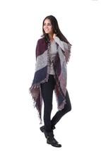Burgundy nadia large shawl thumb200