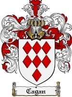 Primary image for Cagan Family Crest / Coat of Arms JPG or PDF Image Download