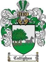 Primary image for Callighan Family Crest / Coat of Arms JPG or PDF Image Download