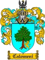 Primary image for Calomeni Family Crest / Coat of Arms JPG or PDF Image Download