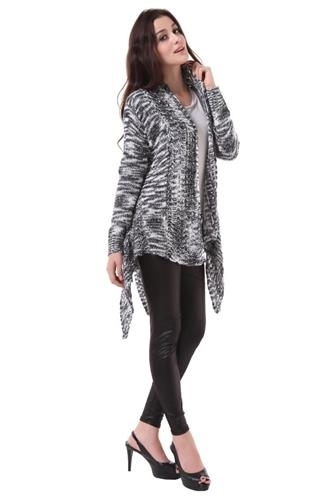 Black and Gray Becky cape wrap sweater one size fits most NEW