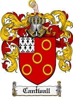 Primary image for Cantwall Family Crest / Coat of Arms JPG or PDF Image Download