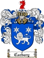 Primary image for Carbery Family Crest / Coat of Arms JPG or PDF Image Download