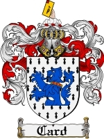 Primary image for Card Family Crest / Coat of Arms JPG or PDF Image Download