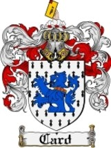 Card Family Crest / Coat of Arms JPG or PDF Image Download - $6.99