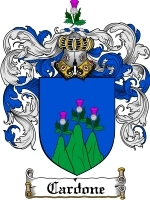 Primary image for Cardone Family Crest / Coat of Arms JPG or PDF Image Download