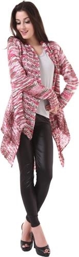 Pink and Gray Becky cape wrap sweater one size fits most NEW