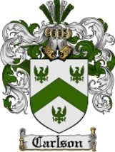 Carlson Family Crest / Coat of Arms JPG or PDF Image Download - $6.99