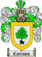 Primary image for Carrasco Family Crest / Coat of Arms JPG or PDF Image Download