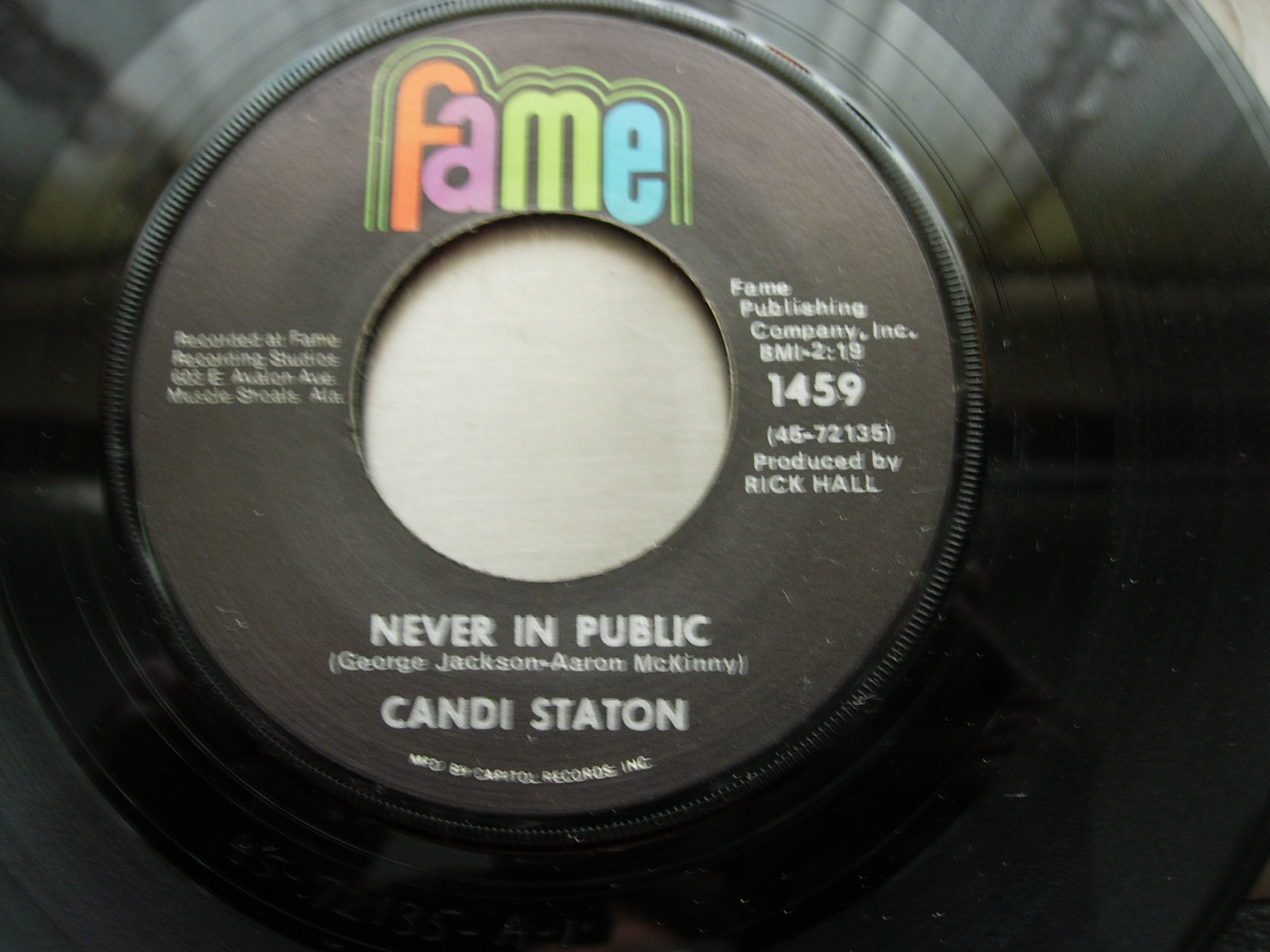 Candi Staton - You Don't Love Me No More / Never In Public - Fame Records 1459