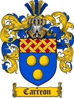 Primary image for Carreon Family Crest / Coat of Arms JPG or PDF Image Download