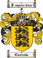 Primary image for Carrow Family Crest / Coat of Arms JPG or PDF Image Download