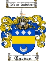 Primary image for Carsen Family Crest / Coat of Arms JPG or PDF Image Download