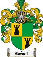 Primary image for Carvell Family Crest / Coat of Arms JPG or PDF Image Download