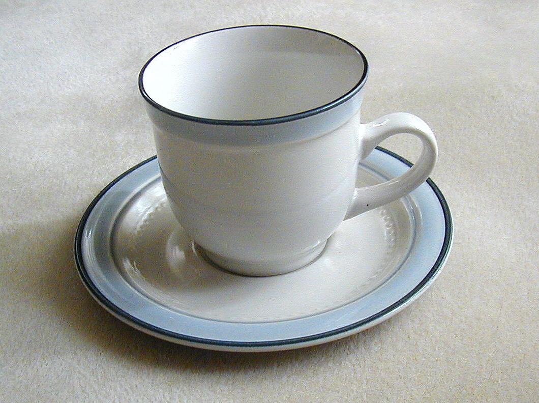 Mountain sky cup saucer