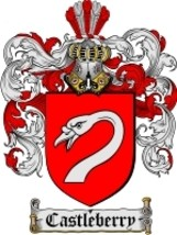 Castleberry Family Crest / Coat of Arms JPG or PDF Image Download - $6.99