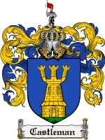 Primary image for Castleman Family Crest / Coat of Arms JPG or PDF Image Download
