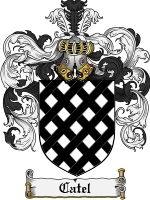 Primary image for Catel Family Crest / Coat of Arms JPG or PDF Image Download