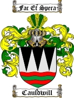 Primary image for Cauldwill Family Crest / Coat of Arms JPG or PDF Image Download