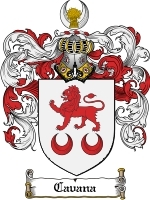 Primary image for Cavana Family Crest / Coat of Arms JPG or PDF Image Download