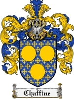 Primary image for Chaffine Family Crest / Coat of Arms JPG or PDF Image Download