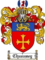Primary image for Channsey Family Crest / Coat of Arms JPG or PDF Image Download