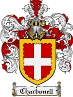 Primary image for Charbonell Family Crest / Coat of Arms JPG or PDF Image Download