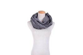 Elle Unique new snakeskin look finish wrap around boa style scarf gray color