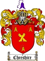 Primary image for Cheeshire Family Crest / Coat of Arms JPG or PDF Image Download