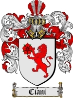 Primary image for Ciani Family Crest / Coat of Arms JPG or PDF Image Download