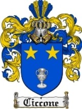 Ciccone Family Crest / Coat of Arms JPG or PDF Image Download - $6.99