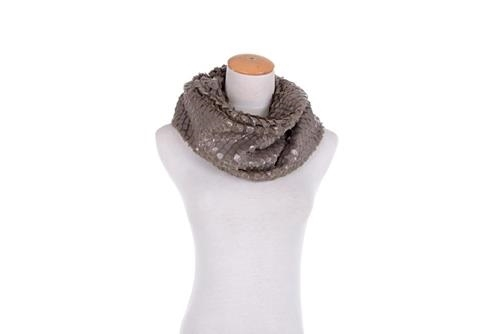 Elle Unique new snakeskin look finish wrap around boa style scarf clay colored
